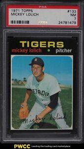 1971 Topps Mickey Lolich #133 PSA 7 NRMT