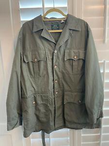Willis & Geiger Jacket Olive Safari Belted Field Coat Men's Size 44 EUC