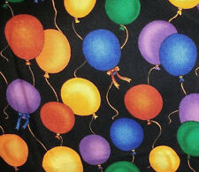 Fabric - Balloons on Black - 10 yard bolt   Overstocked!  Wholesale Price!