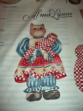 VINTAGE BOOTSEY CAT DOLL  PANEL FABRIC  - 8 PANELS IN STOCK - BY THE PANEL -