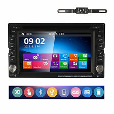 "NEW 6.2"" Double 2 Din GPS DVD Player Stereo Radio Bluetooth iPod USB/SD+Camera"