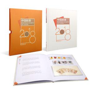 China 2018-1 2018-34 Album Whole Year Full Stamps set + Dog + Booklet 年册预定册