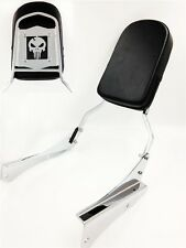 Motorcycle Skull Backrest Sissy Bar For 2001-2008 Honda Shadow Spirit 750 Vt750