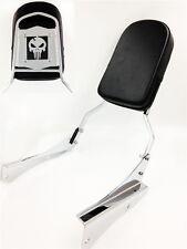 Motorcycle Skull Backrest Sissy Bar For 2001-2008 Honda Shadow Spirit 750 Vt750