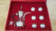 Kuwait Silver Dallah Coffee pot service Limoges cups GTE Bertoni 925 Arabic set