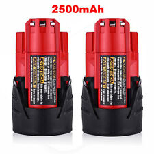 For Milwaukee (2-pack) 48-11-2401 M12 12v RED Lithium Li-Ion Battery Packs New