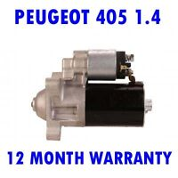 Peugeot 405 1.4 estate 1988 1989 1990 1991 1992 starter motor 12 month warranty