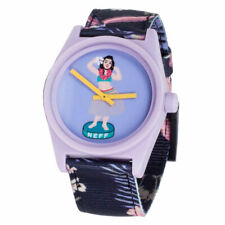 Neff Unisex Daily Wild Analog Watch Charcoal/Floral Purple Timepiece Casual