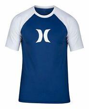 Hurley Mens Swimwear Blue Size 2XL Logo Print Surf Rashguard Top $35- #276