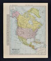 1911 McNally Index Map - North America - United States Canada Mexico Alaska Cuba