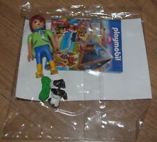 Nouveau Playmobil personnage Zoo Keeper Panda piece of Grass LADY femme fille alimentation animale