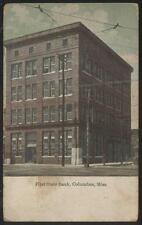 Postcard COLUMBUS Mississippi/MS  1st First State Bank Building 1907