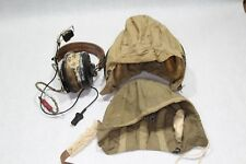 WW 2 US NAVY  PILOT FLIGHT HELMETS, AN-H-15 LG  W/AVIONICS & NAF 48490-1