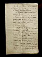 Original 16 PAGE  Napoleon Era Manuscript 1800s