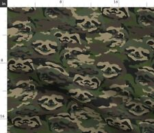 New listing Sloth Camo Hunting Animal Nature Military Spoonflower Fabric by the Yard