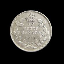 CANADA 10 CENTS 1918 GEORGE V SILVER KM 23 #4748#