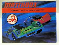 German Edition 1971 MATCHBOX Diecast TOYS CATALOG England unused nm to mint