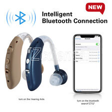 Digital Rechargeable Bluetooth BET Hearing Aid Ear Sound Amplifier USB Charge