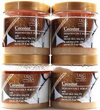 4 Dead Sea Collection Coconut Dead Sea Salt Scrub with Aromatic Oil 23.3oz Jars