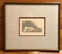Charles Bragg Little Dirty Sleeping Original Etching Signed Numbered 7/100!