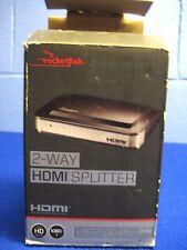 ROCKETFISH 2 WAY HDMI SPLITTER # RF-G1182 ULTRA HD 1080P 3D NEW
