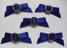 "1-5/8"" Royal Blue Satin Ribbon Bows w/ Buckle Slider-Lots 24Pcs-R0122DR"
