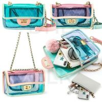 Women Transparent PVC Plastic Cross body Durable Summer Shoulder Bag