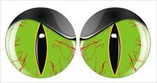 VMS RACING SHOTGUN INTAKE HOOD SCOOP EYES GREEN SNAKE DECALS PAIR