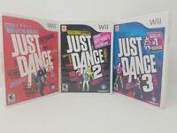Nintendo Wii Just Dance 1,2,3 Lot of 3 Video Games