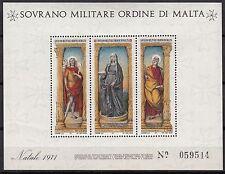 BLOC  TIMBRE MALTE NEUF SOVRANO MILITARE DI MALTA 1971