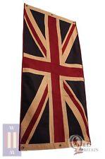 Large Vintage Union Jack Eco Flag | Heavy Duty | 76 x 151 cm Tea Stained Cotton