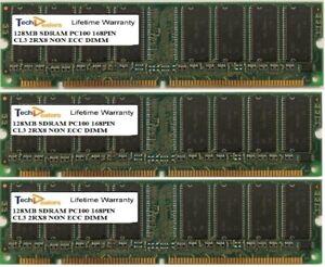 SET OF THREE 128MB PC100 CL3 2RX8 168PIN MEMORY RAM FOR APPLE POWERMAC G3