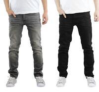 New Mens Designer Crosshatch Jaco Stretch Distressed Denim Skinny Fit Jeans