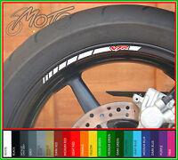 8 x HONDA VFR Wheel Rim Stickers Decals - 750f 800f 400 nc30 1200 nc24 vtec (A)