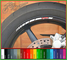 8 x HONDA VFR Wheel Rim Stickers Decals - 750f 800f 400 nc30 1200 nc24 vtec (A)