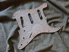 Hand Tooled Custom Leather Pickguard fits Fender Stratocaster SSS, HSS, HH, H