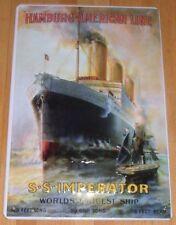 HAMBURG - AMERICAN LINE, Imperator, Blechschild, Dampfer/Schiff