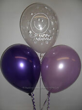 30 Clear Retirement / Purple Lilac Helium or Air Balloons Party Decorations