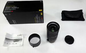 Panasonic 100-400mm F4.0-6.3 Leica DG Vario-Elmar Lens (H-RS100400E) (REF447)