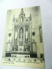 Vintage Postcard Nantes Eglise Sainte Anne Autel des Pelerinages France