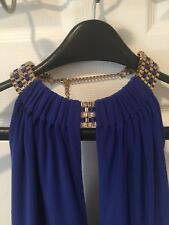 MARCIANO, Sexy Blue Halter Jumpsuit With Gold chain,New with tags,Size XS