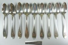 9 zierliche Kaffeelöffel aus 800 Silber mit Ziemonogramm EK D.R.G.M.   (da5588)