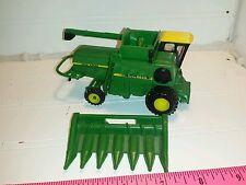 1/64 ERTL custom John deere 6620 turbo rwd combine farm toy yellow top.