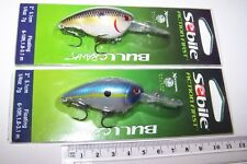 SEBILE Fishing lures PAIR OF BULLCRANK high quality lures, new. Bass, Cod. *