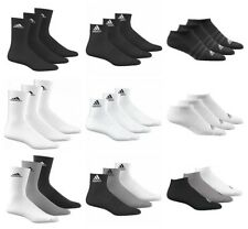 adidas Socks 3s Performance No Show C White Pack of 3 US 9-12