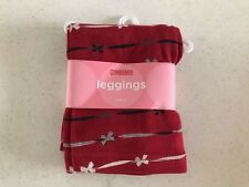 Gymboree NWT HOLIDAY FRIENDS PICTURES Red Leggings Pants Black Bow 5 5T