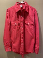New listing Vintage Western Shirt Pearl Snap Pink 16 34 Mens Malco Modes Rockabilly Cowboy
