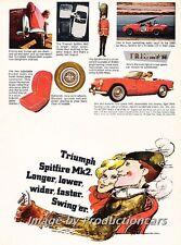 1966 Triumph Spitfire Mk2 - Original Advertisement Print Art Car Ad J719