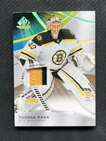 2019-20 UPPER DECK SP GAME USED TUUKA RASK PREMIUM PATCH GOLD SPECTRUM #ed 13/25