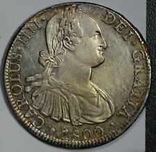 Mexico 1800 8 Reales silver AU lusterous  M0189 combine shipping